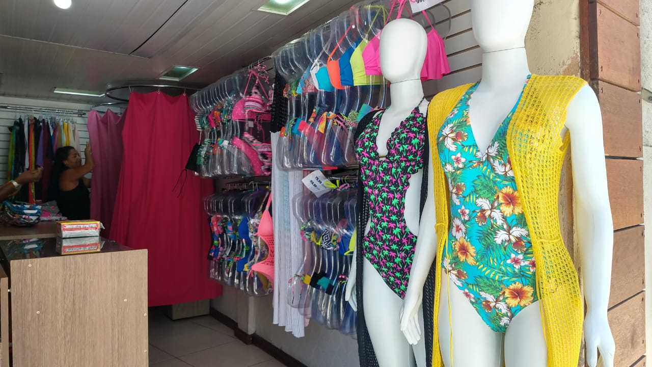 cf4fb5de1 Verão amplia as vendas de vestuário da moda praia no Sul Fluminense