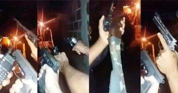 Jovem é preso com suposta arma usada em vídeo gravado por traficantes de Volta Redonda